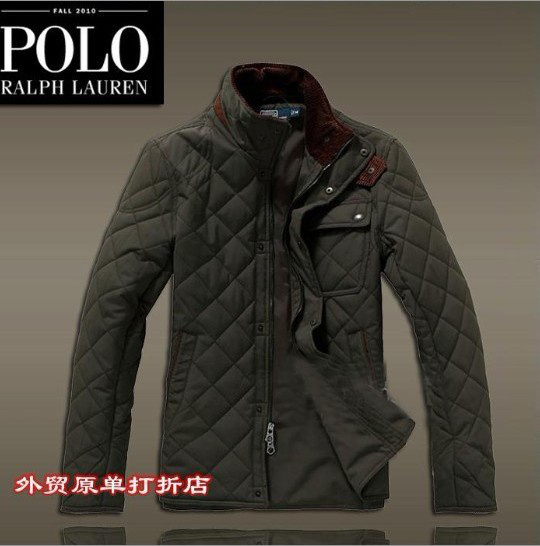 doudoune ralph lauren zipper mode france vert