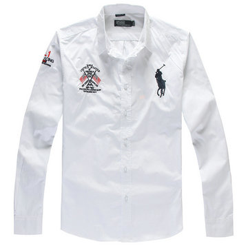 2013 chemise polo ralph lauren acheter coton man big pony washington white