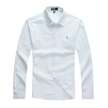 chemises polo ralph lauren slim fit classic blanc