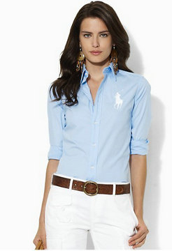 chemises ralph lauren women poney blue white,homme chemise ralph lauren