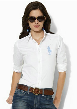 chemises ralph lauren women poney white blue,chemises ralph lauren women pas cher