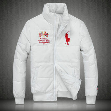 doudoune ralph lauren coats man 2013 mode big pony drapeau national usa blanc