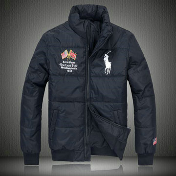 doudoune ralph lauren coats man 2013 mode big pony drapeau national usa noir