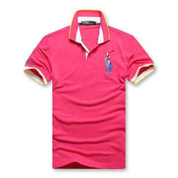 high collar polo ralph lauren man cotton t-shirt breathable 2013 choi ma pink