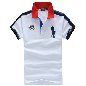 high neck man t-shirt new listing polo ralph lauren 2013 italy cotton pl1208 white red