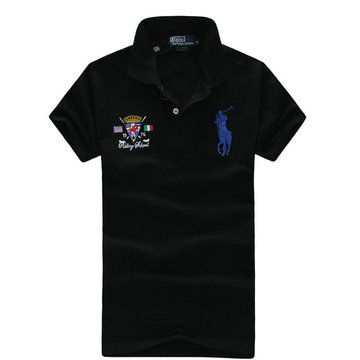 high neck man t-shirt new listing polo ralph lauren 2013 italy cotton pl2211 black blue