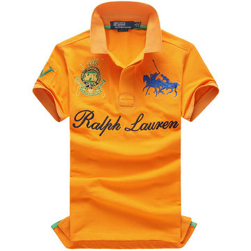high neck man t-shirt new listing polo ralph lauren 2013 italy cotton pl8009 orange blue