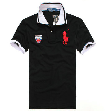 high neck hommes t-shirt new listing polo ralph lauren 2013 italy cotton pl8010 black red