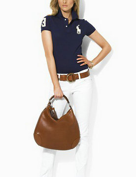 polo ralph lauren wholesale t-shirt cotton high collar women france 2013 big pony lq borland white