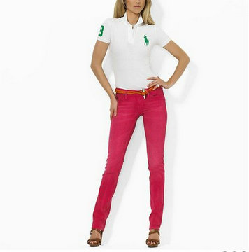 polo ralph lauren wholesale t-shirt cotton high collar women france 2013 big pony lq white green