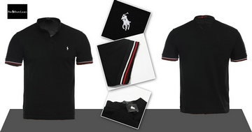 polo ralph lauren wholesale tee shirt man cotton m-xxl five black