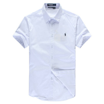 polo ralph lauren pas cher chemises manche courte man 2013 coton single pony white