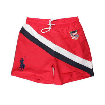 polo ralph lauren big boys pony shorts de bain flag rouge