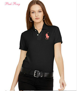 polo ralph lauren newport women tee shirt noir big pony