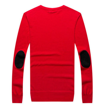 pull ralph lauren pima slim fit rouge feu
