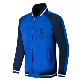 ralph lauren blouson man long sleeves col stand big pony blue