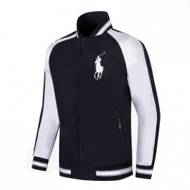 ralph lauren blouson man long sleeves col stand big pony zipper