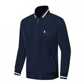 ralph lauren blouson man long sleeves col stand blue small pony