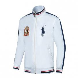 ralph lauren blouson man long sleeves col stand couronne mcmlxvii