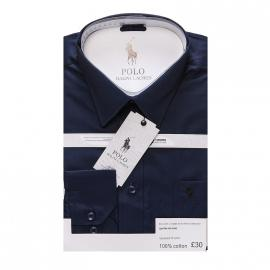 ralph lauren polo chemise man coupe ajustee blue-1