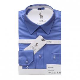 ralph lauren polo chemise man coupe ajustee cloud blue