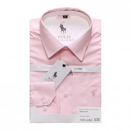 ralph lauren polo chemise man coupe ajustee pink