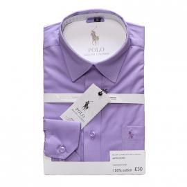 ralph lauren polo chemise man coupe ajustee purple