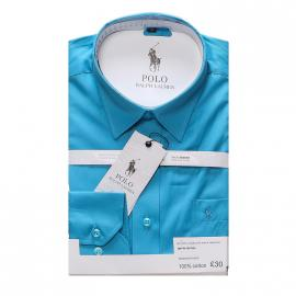 ralph lauren polo chemise hommes coupe ajustee sky