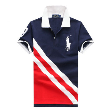 ralph lauren polo t-shirt pastel manche courte escalade double color