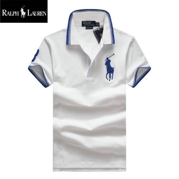 ralph lauren polo t-shirt pastel manche courte big pony blanc