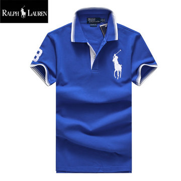 ralph lauren polo t-shirt pastel manche courte big pony blue