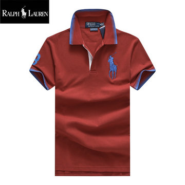 ralph lauren polo t-shirt pastel manche courte big pony deep rouge