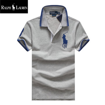 ralph lauren polo t-shirt pastel manche courte big pony gris