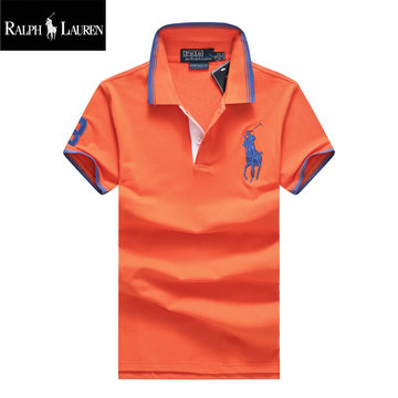 ralph lauren polo t-shirt pastel manche courte big pony orange