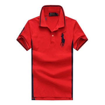 ralph lauren polo t-shirt pastel manche courte big pony red