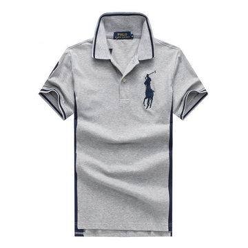 ralph lauren polo t-shirt pastel manche courte blue pony gray