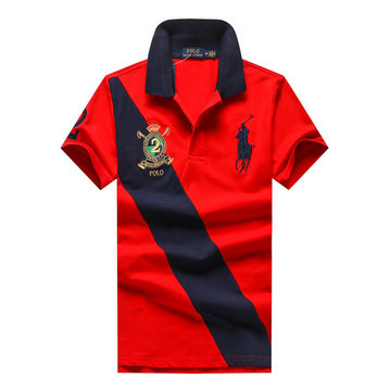 ralph lauren polo t-shirt pastel manche courte rouge multicolor