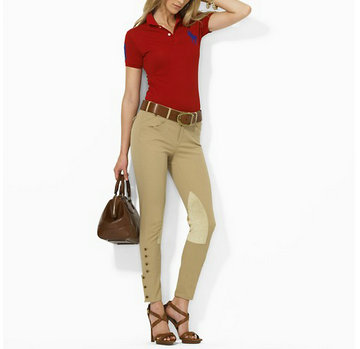 ralph lauren tee shirt women pony char red