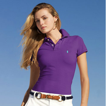 ralph lauren tee shirt women small pony mode purple
