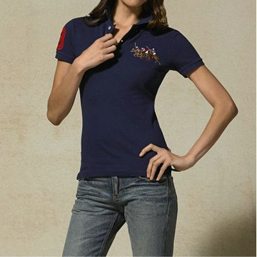 ralph lauren tee shirt women two pony blue