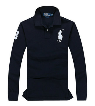 ralph lauren long t-shirt club de coton big pony blue