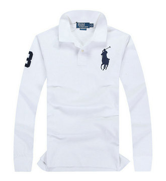 ralph lauren long t-shirt club de coton chevalier
