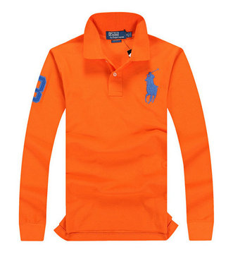 ralph lauren long t-shirt club de coton orange