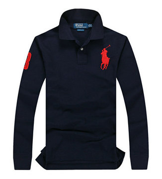 ralph lauren long t-shirt club de coton pony rouge