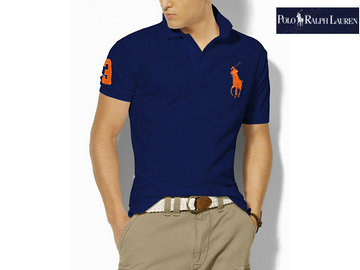 ralph lauren man t-shirt mode high bleu orange,polo ralph lauren tee shirt uni