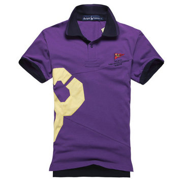 ralph lauren pas cher cotton col haut t-shirt men 2013 prl&co purple