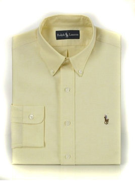 ralph lauren polo coton chemises mode jaune
