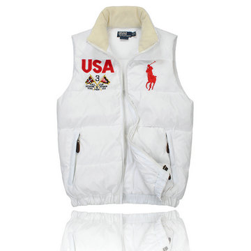 jacket polo ralph lauren sans manche prix raisonnable usa blanc