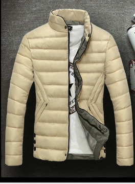 jackets et coatsx ralph lauren man polo stand collar creme