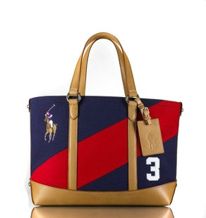 polo ralph lauren bag sacoche de loisir char blue red